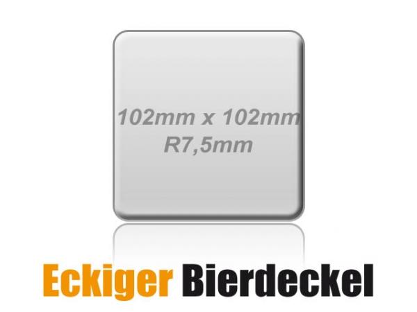 Eckiger Bierdeckel