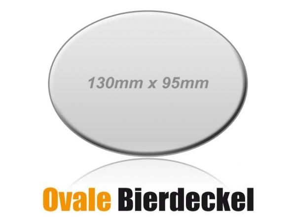 Ovale Bierdeckel